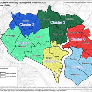 Cluster map of Southampton