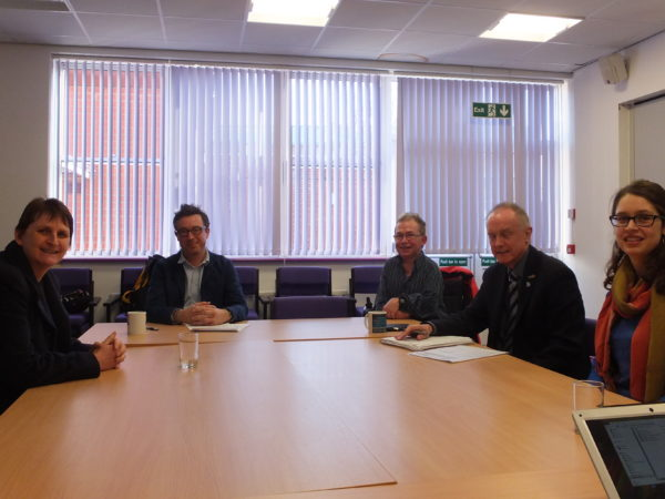 Picture of SPECTRUM staff and clients at a Community Navigation meeting