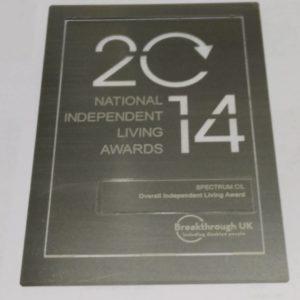 National Independend Living Award 2014