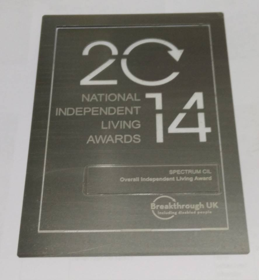 National Independend Living Award 2014