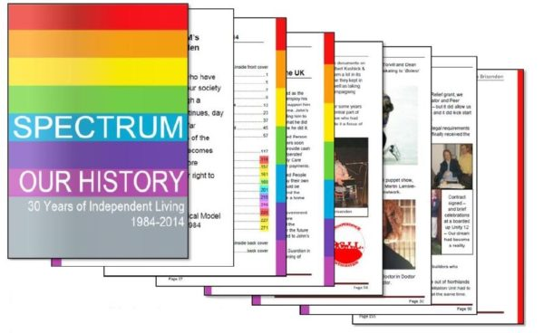 Picture of the front cover of SPECTRUM's book called Our History