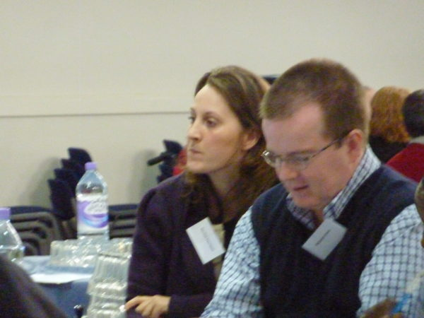 A picture of two people at our annual PEP conference