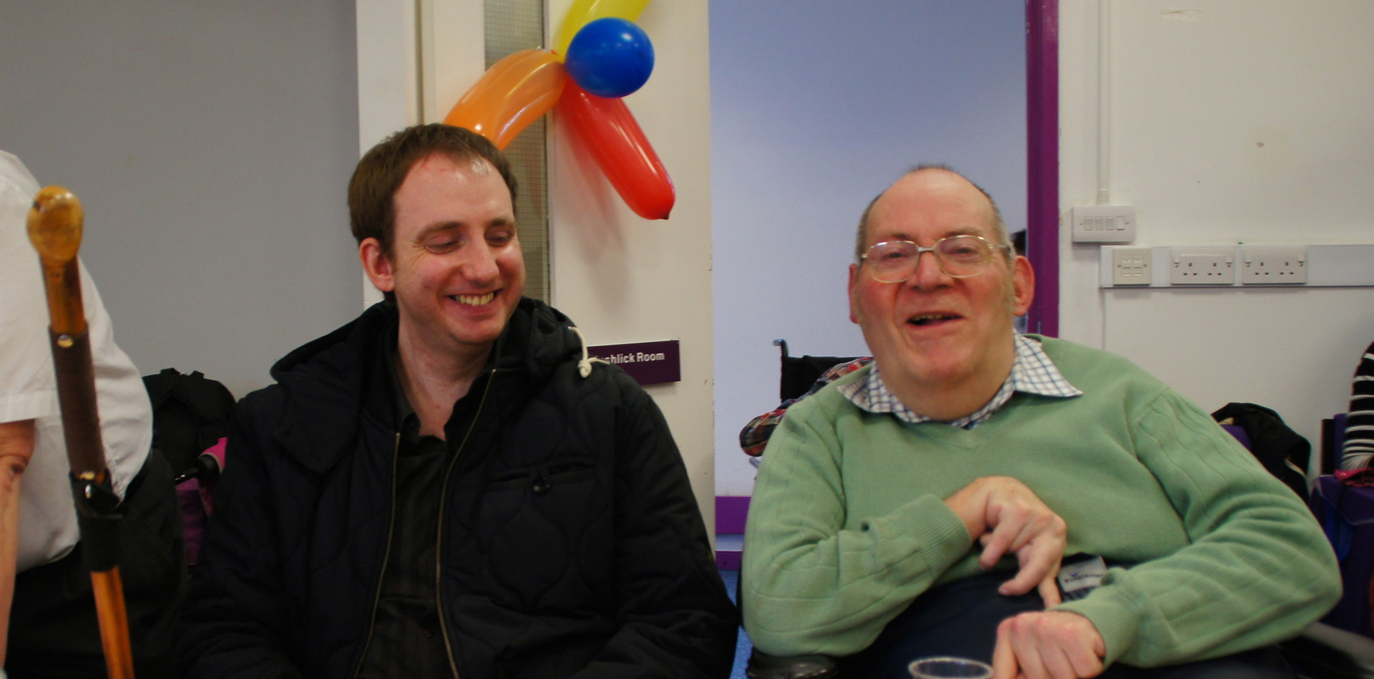 Two of our management committee-members enjoying a joke