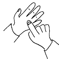 Picture of two hands making a sign language symbol