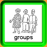 Cartoon image of a woman and two men one holding a stick and the caption Groupsons