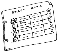 Picture of a staff rota