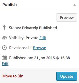 Editing tips publishing status