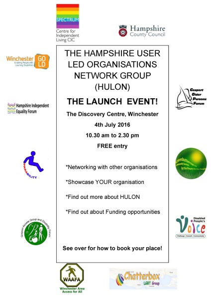 Hampshire ULO Network Launch event poster page 1